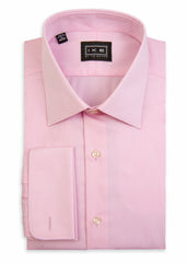 Pink Pique French Cuff Ike by Ike Behar Dress Shirt