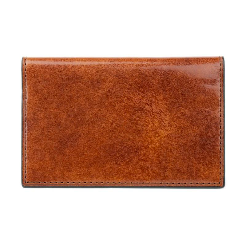 Amber Old Leather Classic Calling Card Case,CARD CASE,GentRow.com, | GentRow.com
