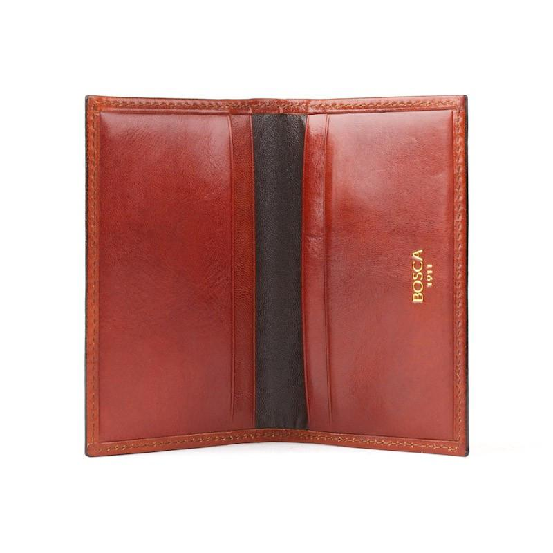 Cognac Old Leather Classic Calling Card Case,CARD CASE,GentRow.com, | GentRow.com
