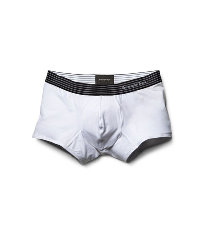 White Stretch-Cotton Trunks