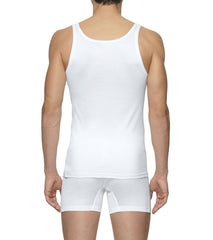White Cotton Sleeveless Undershirt,Underwear,zegna, | GentRow.com
