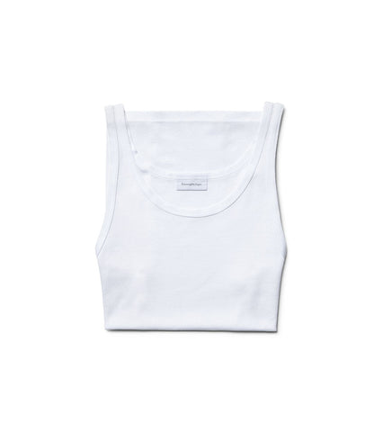 White Cotton Sleeveless Undershirt