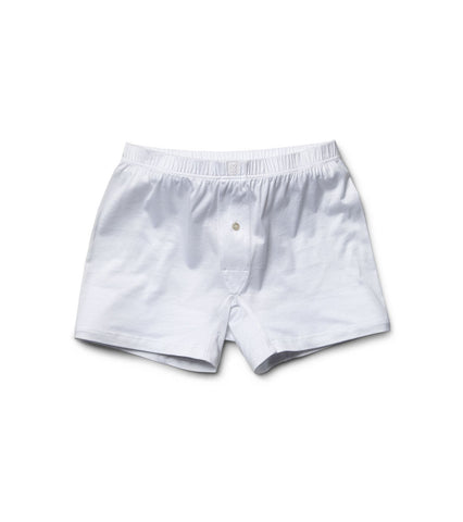 White Cotton Boxer Briefs