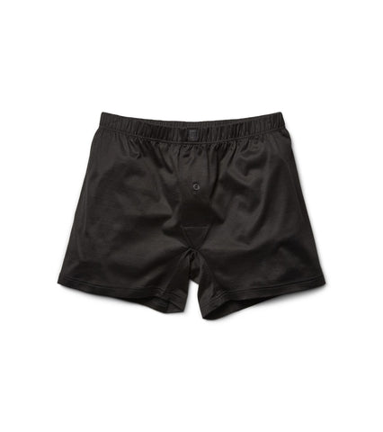 Black Cotton Boxer-Briefs
