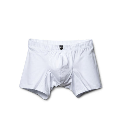 White Cotton Long Boxer-Briefs