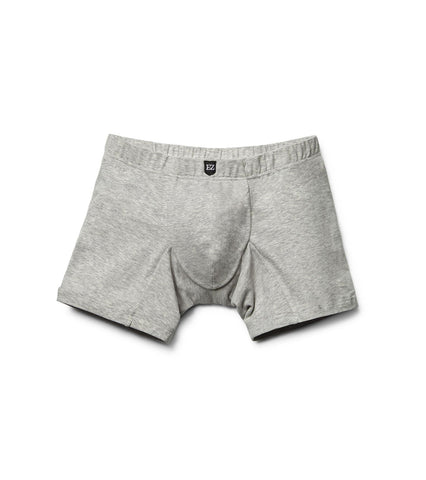 Gray Cotton Long Boxer-Briefs