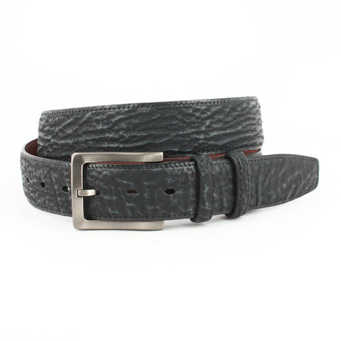 GENUINE SHARKSKIN BELT - CHARCOAL