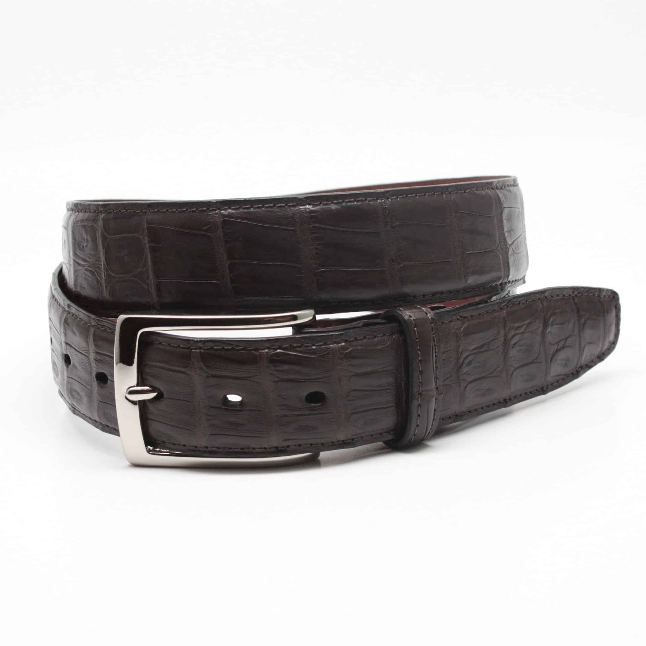 South American Caiman Belt - Brown,BELT,Gent Row, | GentRow.com