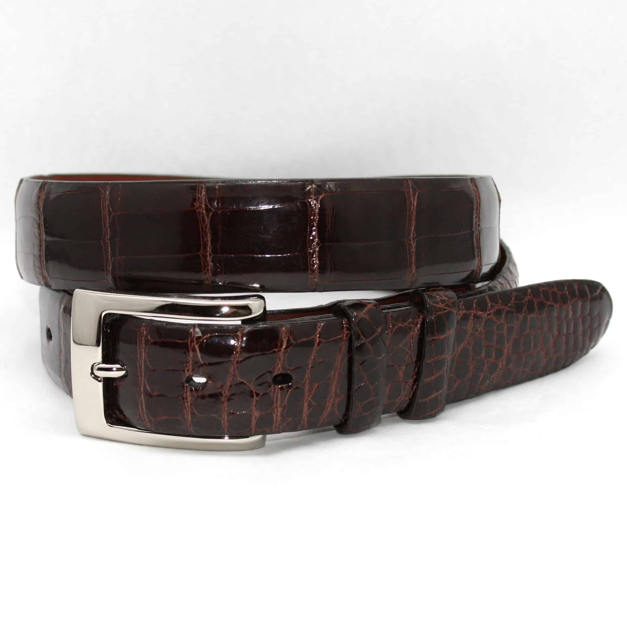 Genuine American Alligator Belt - Brown,BELT,Gent Row, | GentRow.com