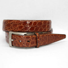 Glazed South American Caiman Belt - Cognac,BELT,Gent Row, | GentRow.com