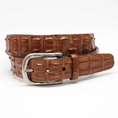 Genuine Hornback Crocodile Belt - Saddle Tan,BELT,Gent Row, | GentRow.com