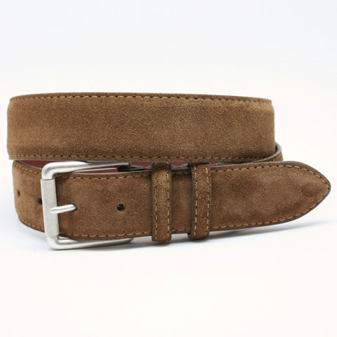 European Sueded Calfskin Belt - Whiskey