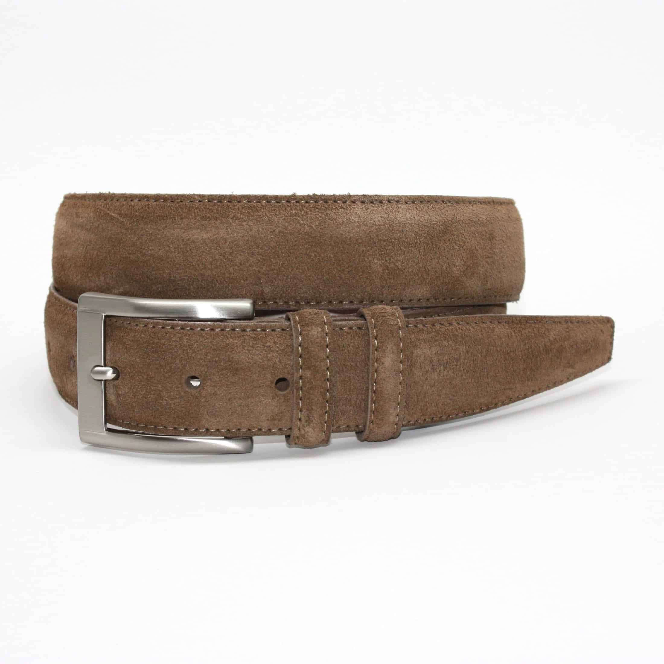 Italian Sueded Calfskin Belt - Whiskey,BELT,Gent Row, | GentRow.com