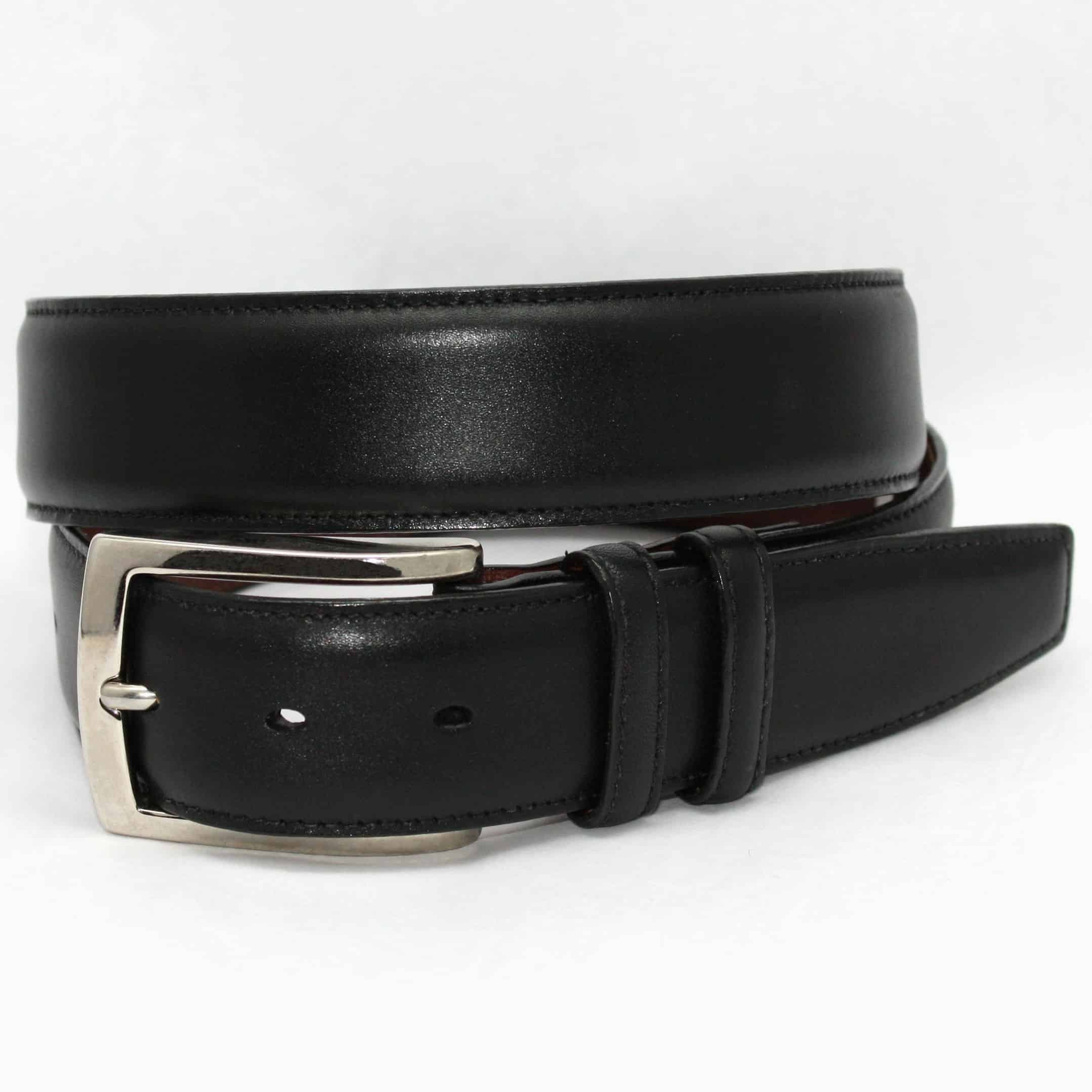 Italian Burnished Calfskin Belt - Black,BELT,Gent Row, | GentRow.com