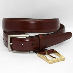 Glazed Kipskin Double Buckle Option Belt - Honey,BELT,GentRow.com, | GentRow.com