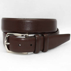 Italian Bulgaro Calfskin Belt - Brown,BELT,GentRow.com, | GentRow.com