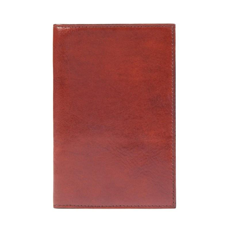 Cognac Old Leather Classic Passport Case,Passport Case,GentRow.com, | GentRow.com