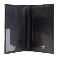 Black Old Leather Classic Passport Case,Passport Case,GentRow.com, | GentRow.com