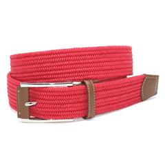 Italian Mini Woven Cotton Stretch - Red,BELT,GentRow.com, | GentRow.com