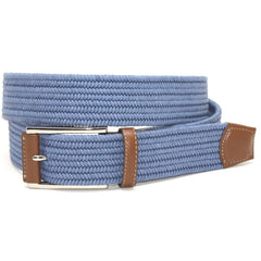 Italian Mini Woven Cotton Stretch - Royal Blue,BELT,GentRow.com, | GentRow.com