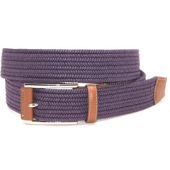 Italian Mini Woven Cotton Stretch - Purple,BELT,GentRow.com, | GentRow.com