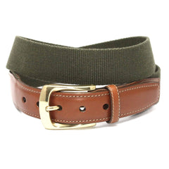 European Ribbed Surcingle Belt - Olive,BELT,GentRow.com, | GentRow.com