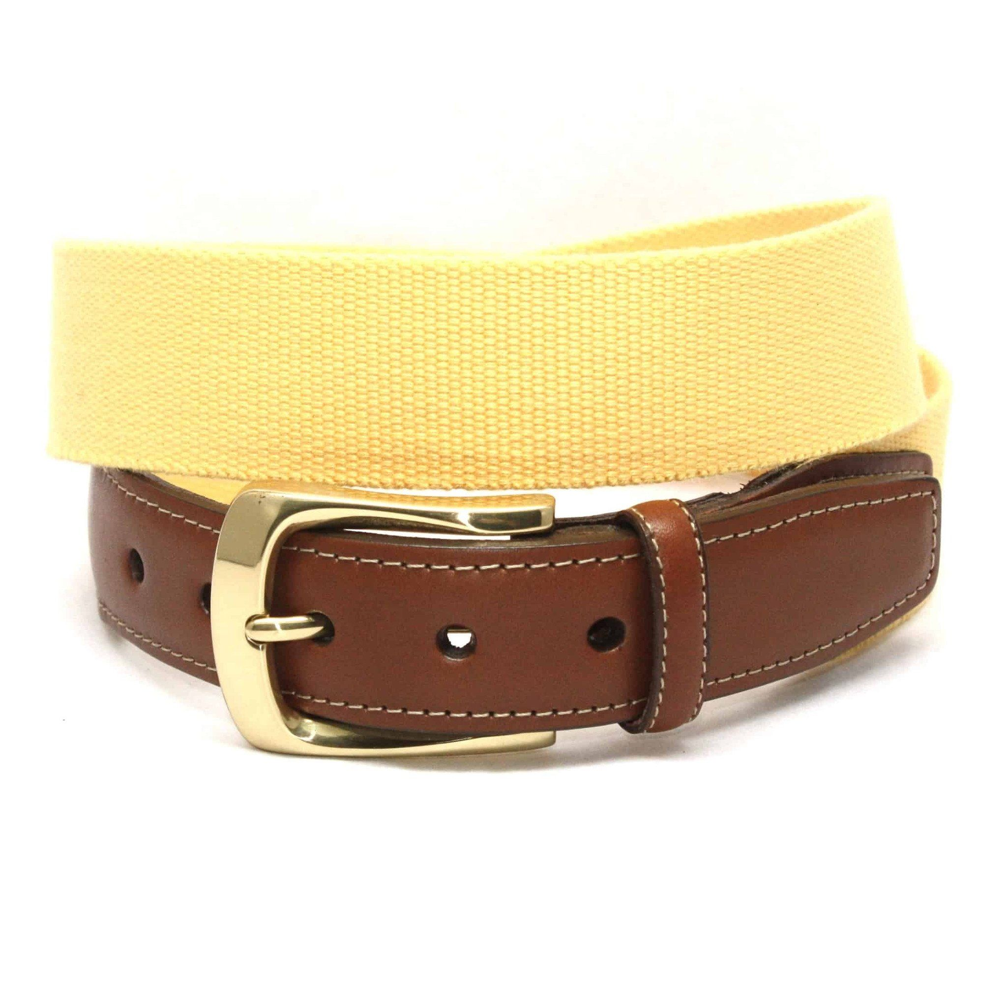 European Ribbed Surcingle Belt - Yellow,BELT,GentRow.com, | GentRow.com