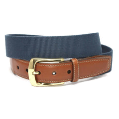 European Ribbed Surcingle Belt - Denim,BELT,GentRow.com, | GentRow.com