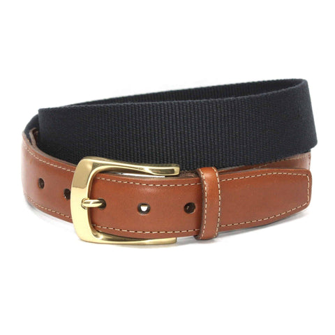 European Ribbed Surcingle Belt - Navy