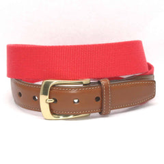 European Ribbed Surcingle Belt - Red,BELT,GentRow.com, | GentRow.com