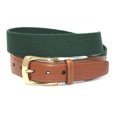 European Ribbed Surcingle Belt - Forest Green