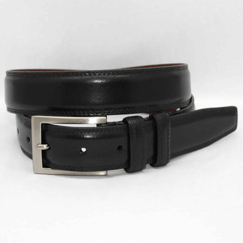 Italian Aniline Leather Belt - Black