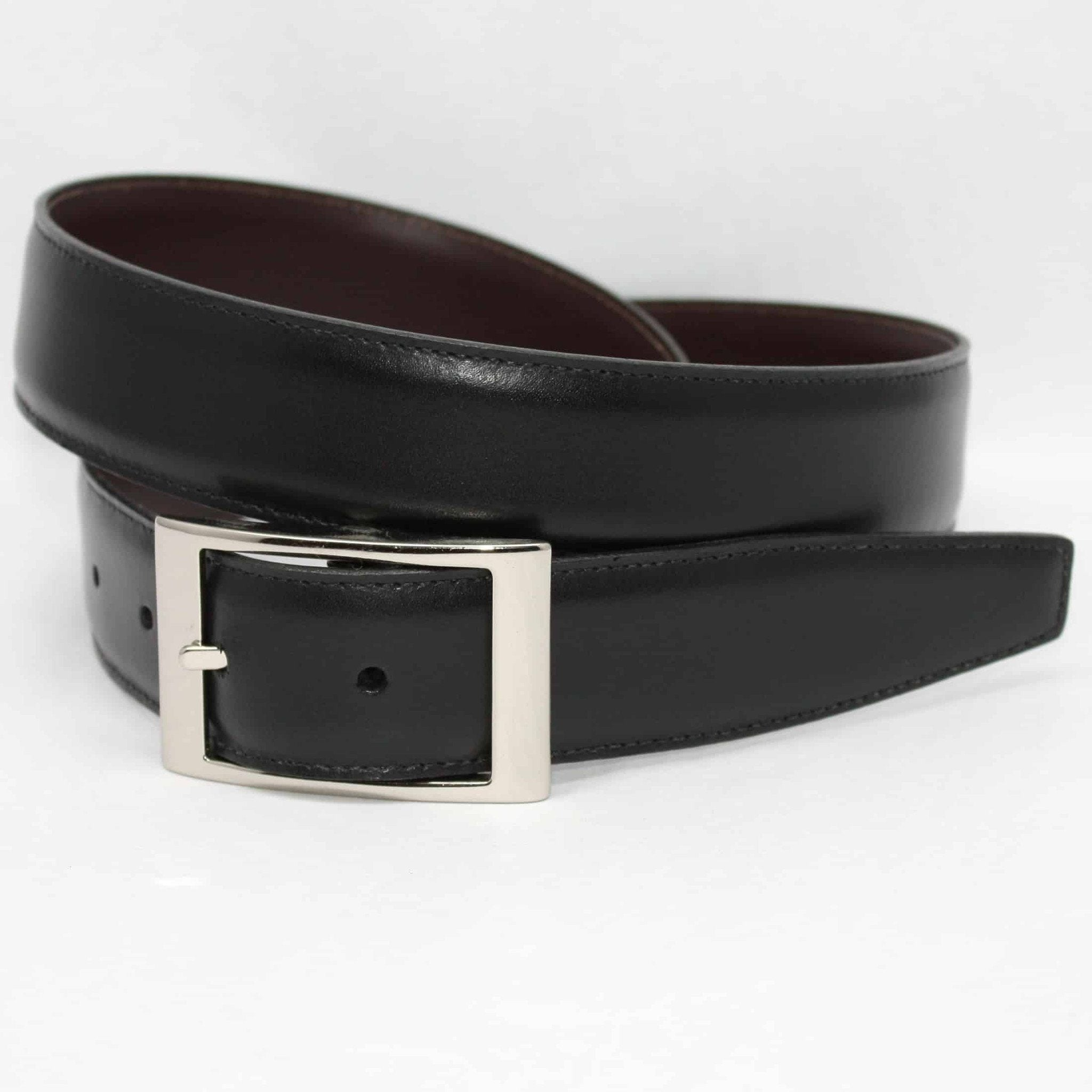 Italian Aniline Leather - Reversible Black to Brown,BELT,GentRow.com, | GentRow.com