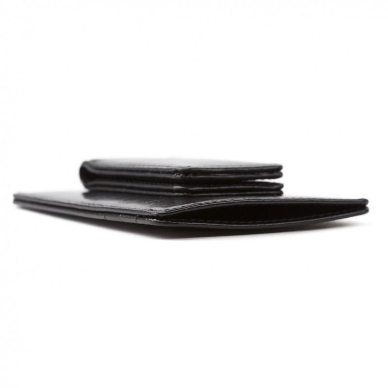 Black Old Leather Classic Front Pocket Wallet,WALLETS,GentRow.com, | GentRow.com
