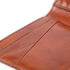 Amber Old Leather New Fashioned Small Bi-fold Wallet,WALLETS,GentRow.com, | GentRow.com