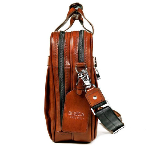 Amber Old Leather Classic Stringer Bag
