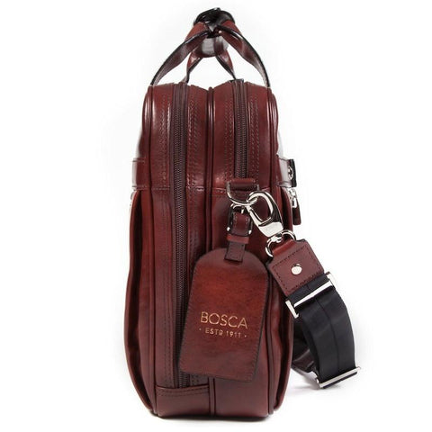 Dark Brown Old Leather Classic Stringer Bag