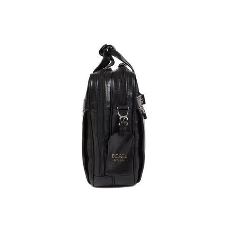 Black Old Leather Classic Stringer Bag