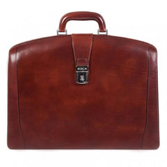 Dark Brown Old Leather Classic Partners Brief,BAGS,GentRow.com, | GentRow.com