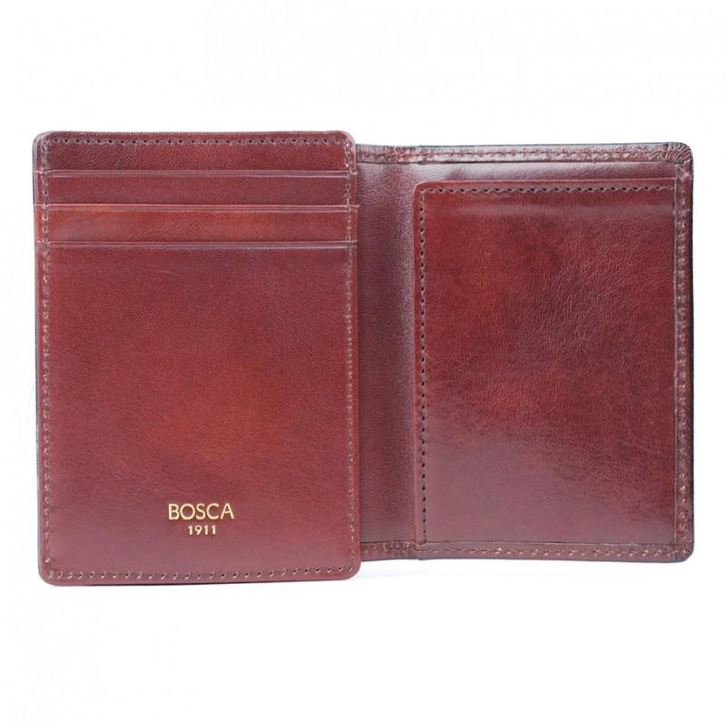 Dark Brown Old Leather Classic Front Pocket ID Wallet,WALLETS,GentRow.com, | GentRow.com