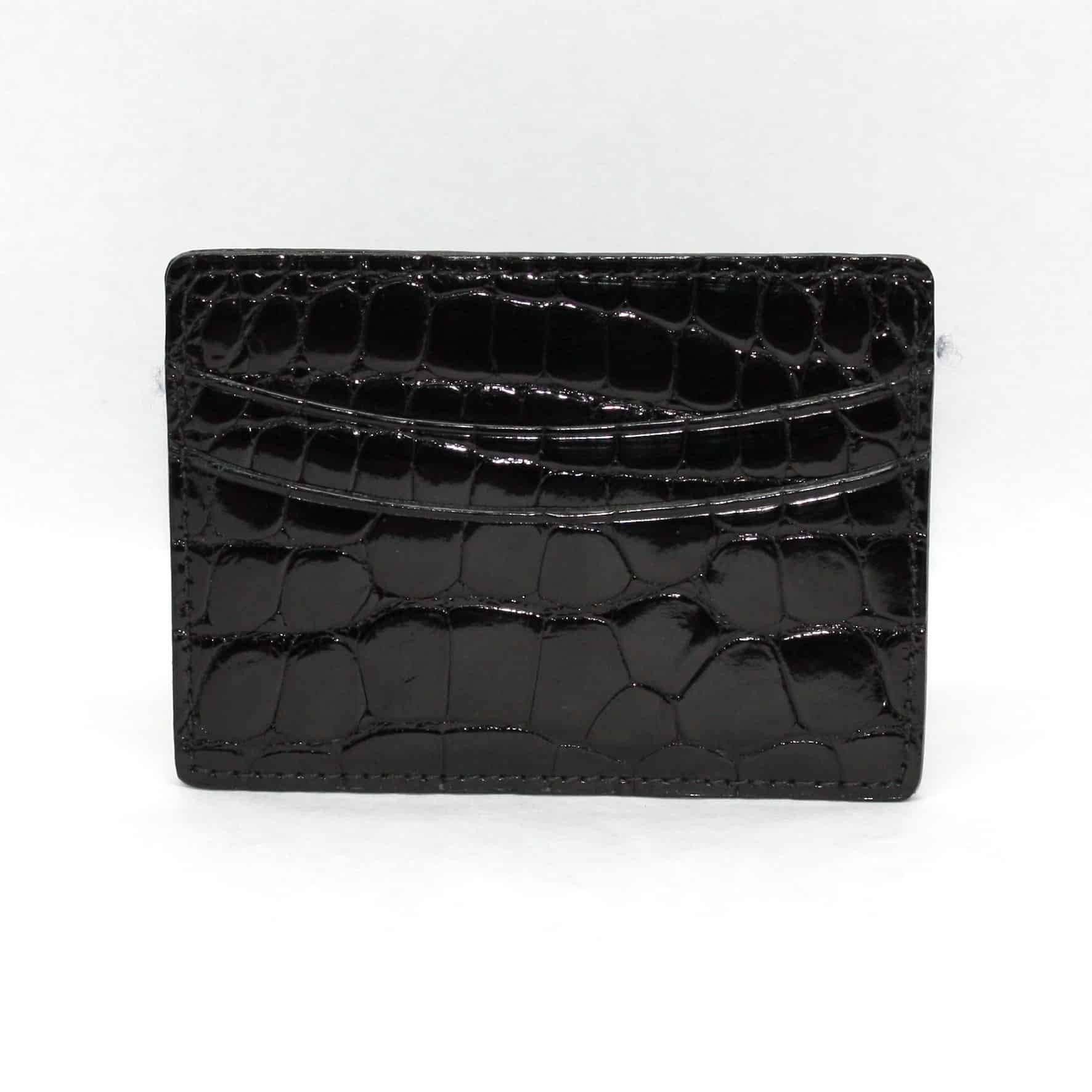 Genuine Alligator Cardcase - Black,WALLETS,GentRow.com, | GentRow.com