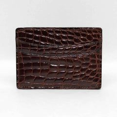 Genuine Alligator Cardcase - Brown,WALLETS,GentRow.com, | GentRow.com