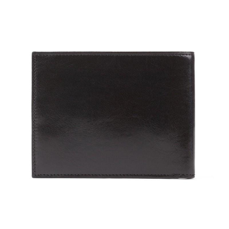 Black Old Leather Classic 8 Pocket Wallet,WALLETS,GentRow.com, | GentRow.com