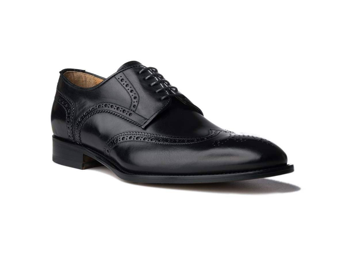 Wingtip Black Antique,SHOES,Ace Marks, | GentRow.com