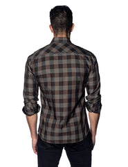 Brown Plaid Shirt for Men AH-OT-5057