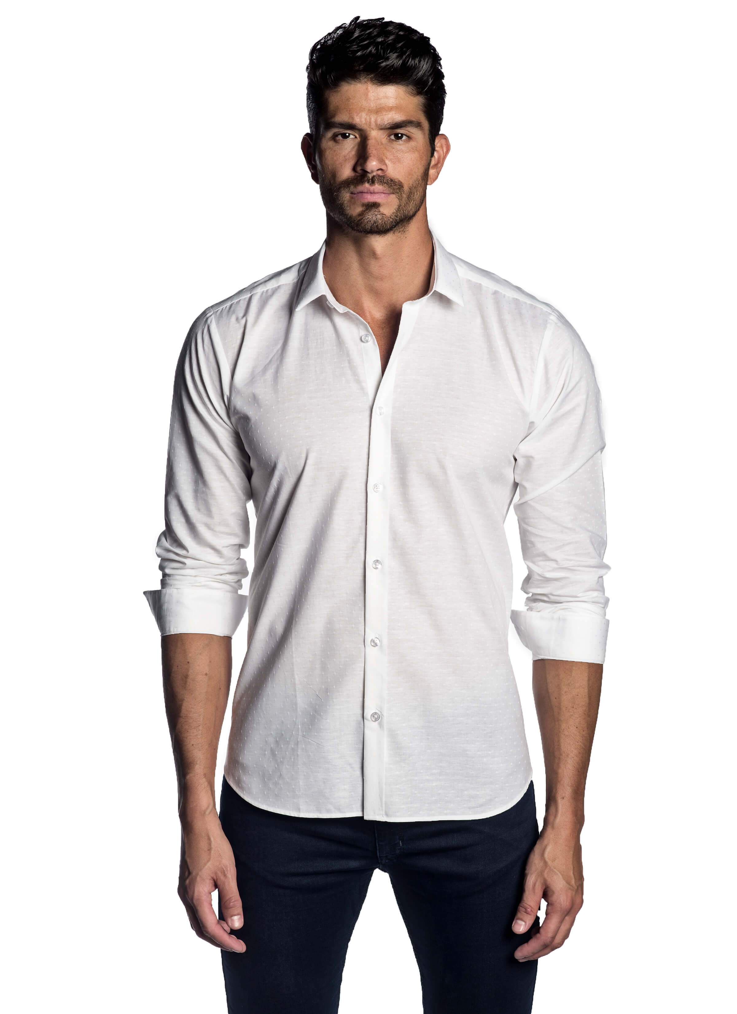White Solid Shirt AH-T-2055