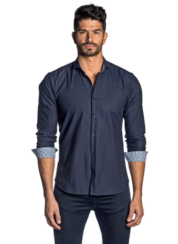 Navy Solid Shirt for Men AH-T-ITA-2090