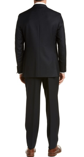Brioni Wool Suit With Flat Front Pant,SUITS,BRIONI, | GentRow.com