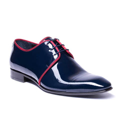Navy Patent Leather Formal Dress Shoe 8426-NV