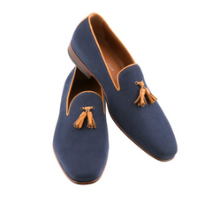 Classico - Navy and Tan,SHOES,Mark Chris, | GentRow.com